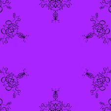 Free Purple Background Scroll Pattern Royalty Free Stock Images - 620279