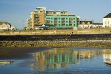 Free Porthcawl Seafront With Green Flats Stock Photos - 620313