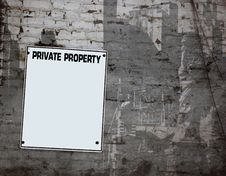 Free Private Property Plate Royalty Free Stock Images - 620379