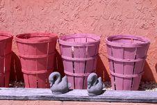 Pastel Baskets Stock Photo