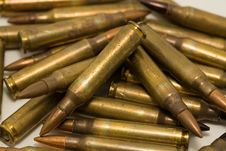 Free M-16 5.56mm Cartridges Royalty Free Stock Images - 621899