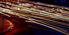 Free Steaking Lights W/ Roadsign Stock Photo - 622470