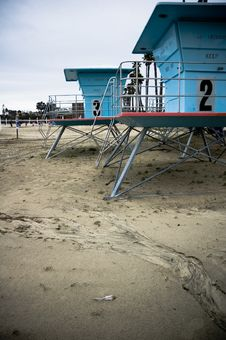 Free Lifeguard Houses Stock Photo - 624030