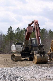 Free Excavator Royalty Free Stock Photography - 624387