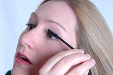 Free Applying Mascara Stock Photos - 624673