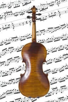 Free Violin Back Royalty Free Stock Photo - 624705