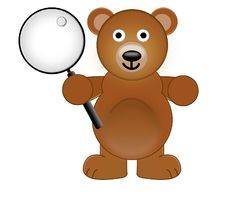 Free A Teddy Bear Holding With A Magnifying Glass Stock Photos - 625123