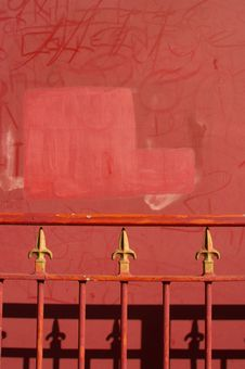 Free Red Railings Stock Image - 625381