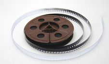Free 8mm Film Tape On White Royalty Free Stock Photos - 625548