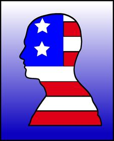 American  Head 3 Royalty Free Stock Images