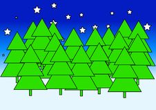Free Christmas Trees Royalty Free Stock Photography - 625567