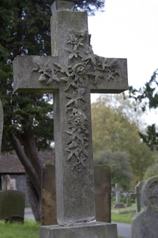 Free Old Englash Church Cemetery Stock Photography - 625632