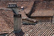 Free Rooftops In Vezelay, Central France Royalty Free Stock Photography - 625947