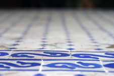Free Detail Of Tiled Table Top Royalty Free Stock Photos - 626178
