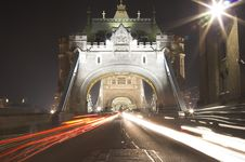 Free Tower Bridge At Night Royalty Free Stock Photos - 626218
