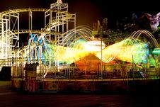 Free Funfair Ride At Night Royalty Free Stock Photos - 626448
