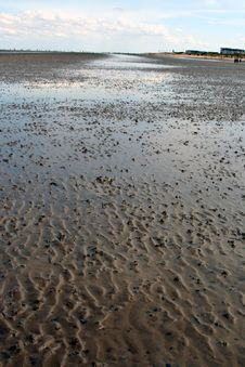 Free The North Sea At Low Tide Royalty Free Stock Photo - 626725