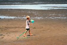Free Boy With A Kite Royalty Free Stock Image - 626826