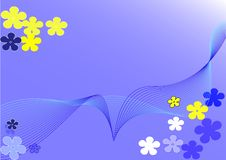 Free Flower-wave Background Stock Photography - 628002