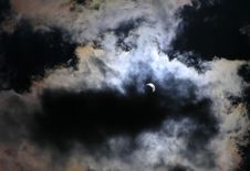 Solar Eclipse At 70 Phase Royalty Free Stock Photography