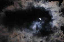Free Solar Eclipse At 70 Phase Royalty Free Stock Photos - 628128
