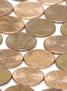 Free Vertical Pennies Background Royalty Free Stock Photo - 628395