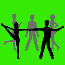 Group Of People - Dancers Royalty Free Stock Photography
