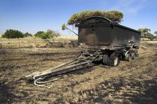 Burnt Out Truck Trailer Stock Photography
