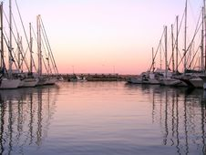 Free Small Harbor Royalty Free Stock Photo - 629455