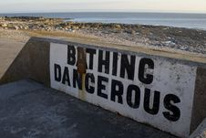 Bathing Dangerous Stock Image