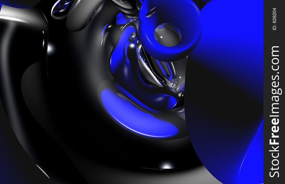 Blue&silver background (abstract) 02