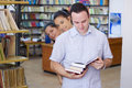 Free Three Students In Library Stock Photography - 6203032