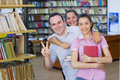 Free Three Students In Library Stock Photo - 6203060
