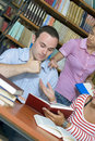Free Three Students In Library Royalty Free Stock Photography - 6203237