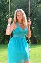 Free Woman On Swings Royalty Free Stock Photos - 6203608