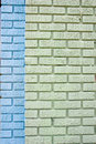 Free Blue And Green Brick Stock Photography - 6205652