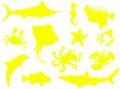 Free Sea-life Silhouette Royalty Free Stock Photo - 6207625