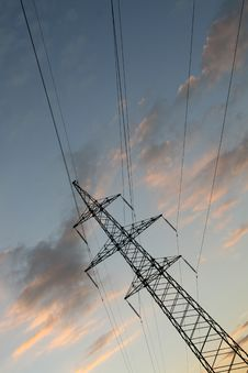 Free High-voltage Transmission Tower Stock Photos - 6200223