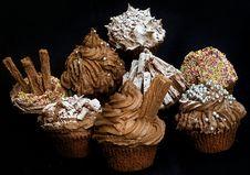 Free Chocolate Cupcakes Stock Photo - 6200540