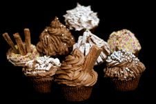 Free Chocolate Cupcakes Stock Images - 6200544