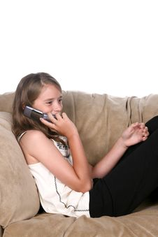 Free Girl On Phone Royalty Free Stock Photography - 6201177