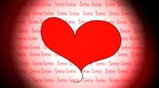 Love Message Stock Image