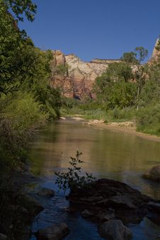 Free Virgin River At Zion National Park Stock Photography - 6201632