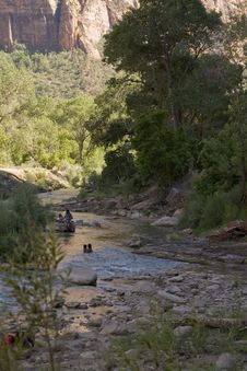 Free Virgin River At Zion National Park Stock Photos - 6201633