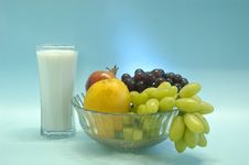 Free Still Life With Fruits & Milk Royalty Free Stock Image - 6202166