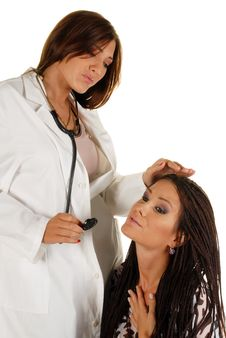 Young Attractive Female Doctor And Patient Stock Images