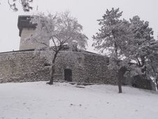 Free Castle In The Snow Stock Image - 6202711