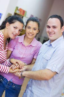 Free Three Happy Friends Royalty Free Stock Image - 6203116