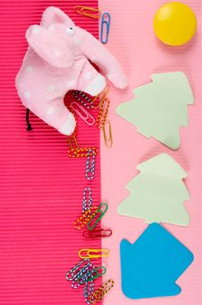 Free Clips, Stickies And Toys Stock Photo - 6203330