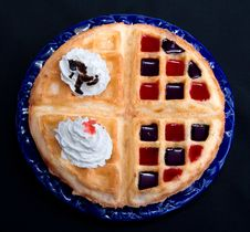 Free Waffles With Cream Stock Image - 6203371
